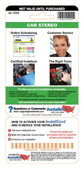 InstallCard Back