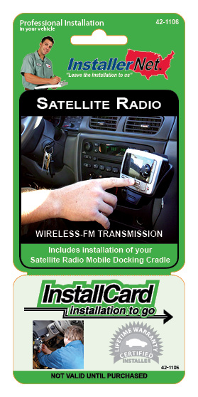 Satellite Radio w/ wireless FM Mod